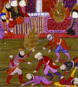 Banu Qurayza were followers of Judaism and many hundreds of Jews were beheaded during the reign of Mohammed