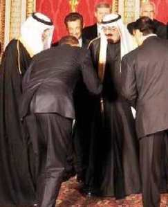Obama bows to the King of Saudi Arabia in the full knowledge that this nation is exporting militant Islam and that all apostates from Islam face the death penalty