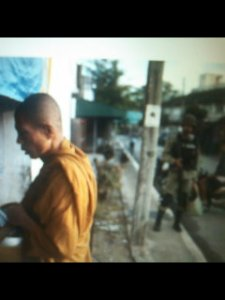 Buddhists are protected by the Thai military from Islamic fanatics